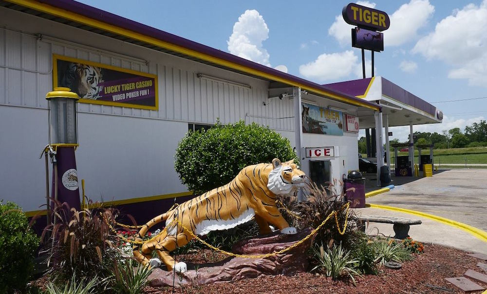 exterior shot of the tiger truck stop