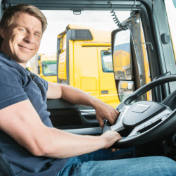 motivated truck driver