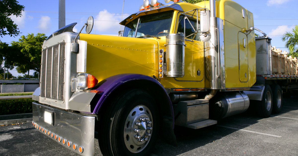 a truck using a compliant electronic logging device
