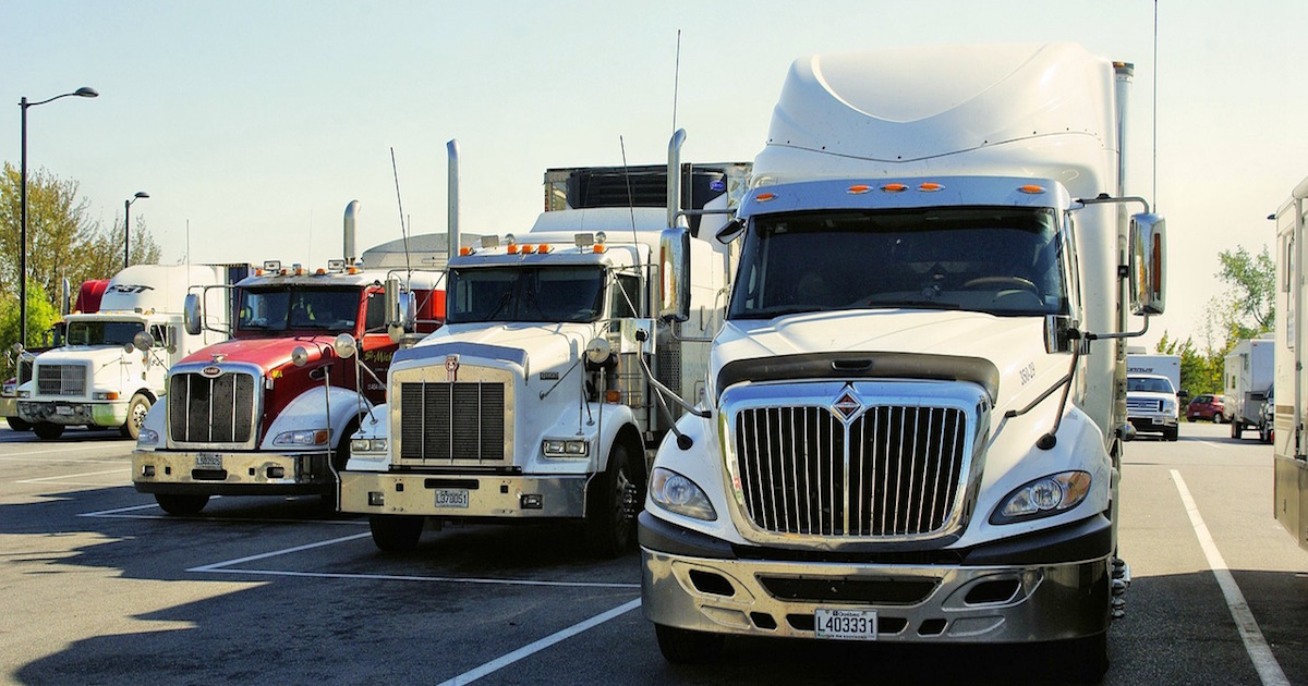 a fleet of trucks using an ELD