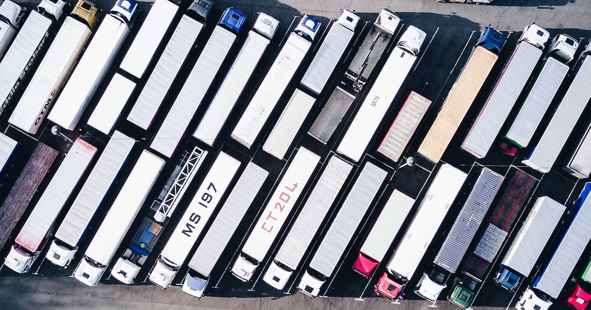 a fleet of trucks in need of an ELD
