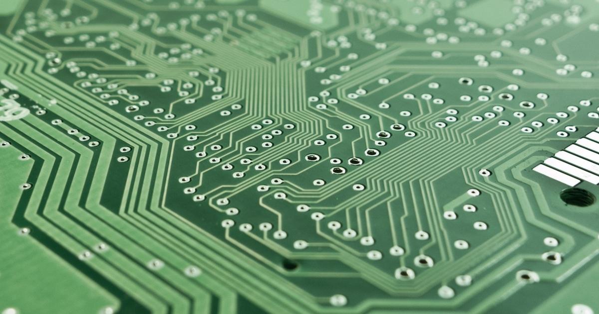 a circuit board representing insuretech for fleet management