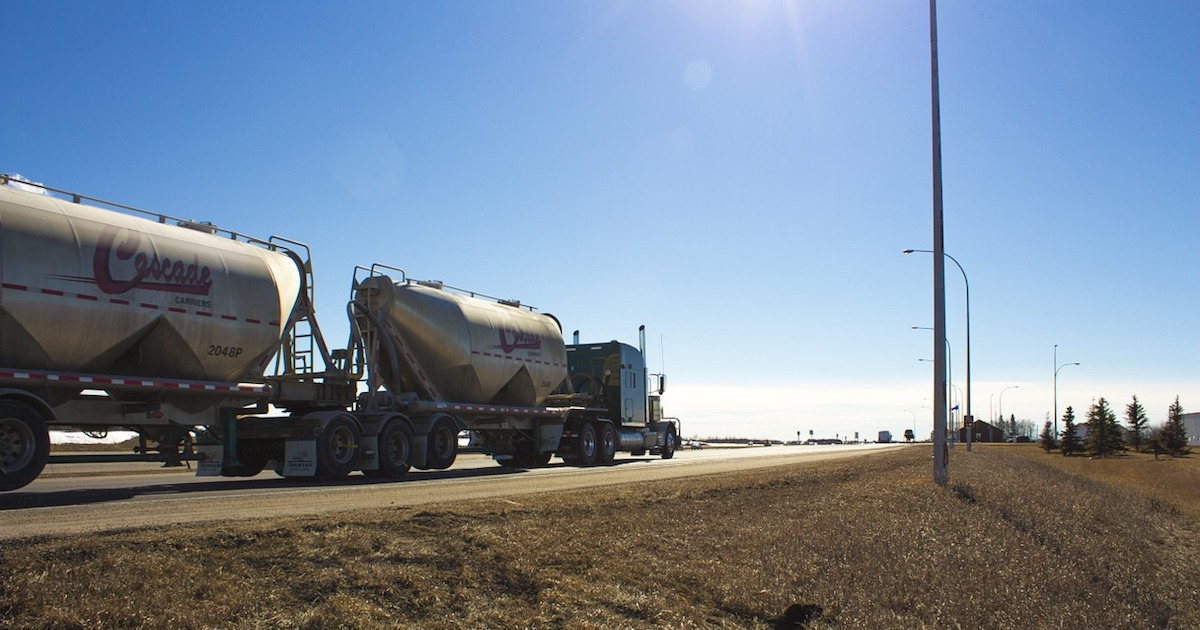 a fuel truck getting ready to review our weigh station inspection tips