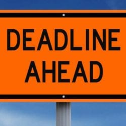 deadline ahead sign that indicates there are no more eld deadline extensions