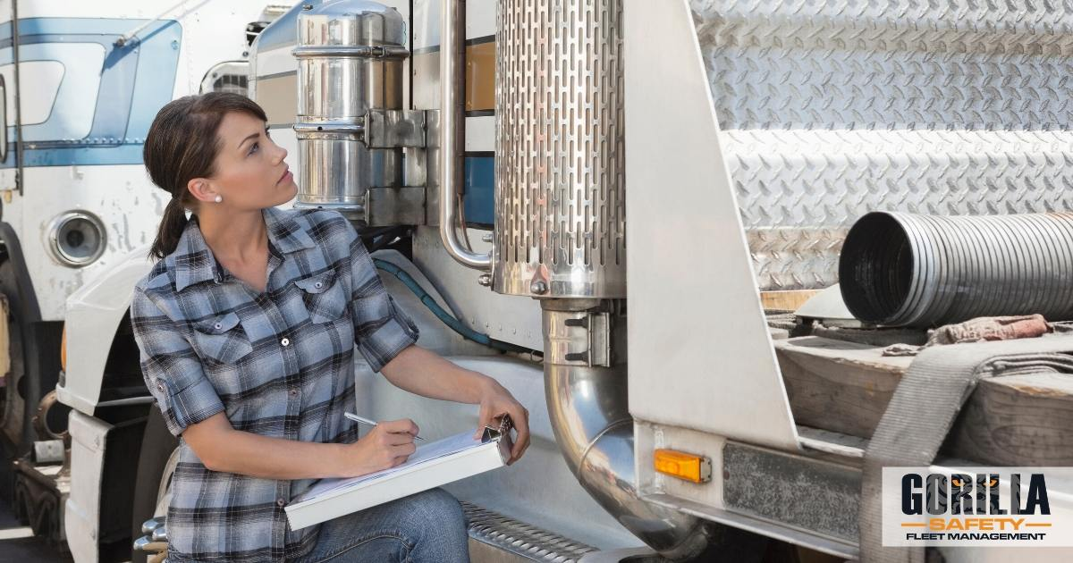 a driver preparing for the next CVSA inspection blitz