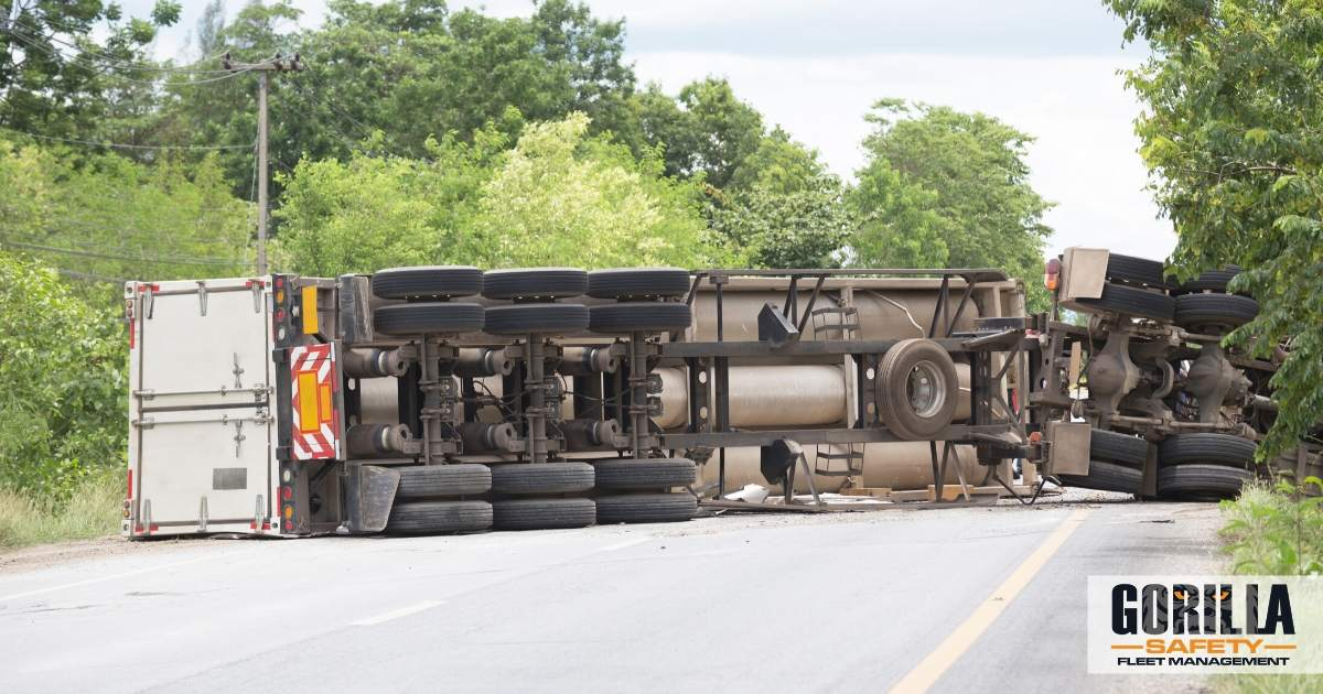 a truck involved in an accident during the 100 deadliest days on the road