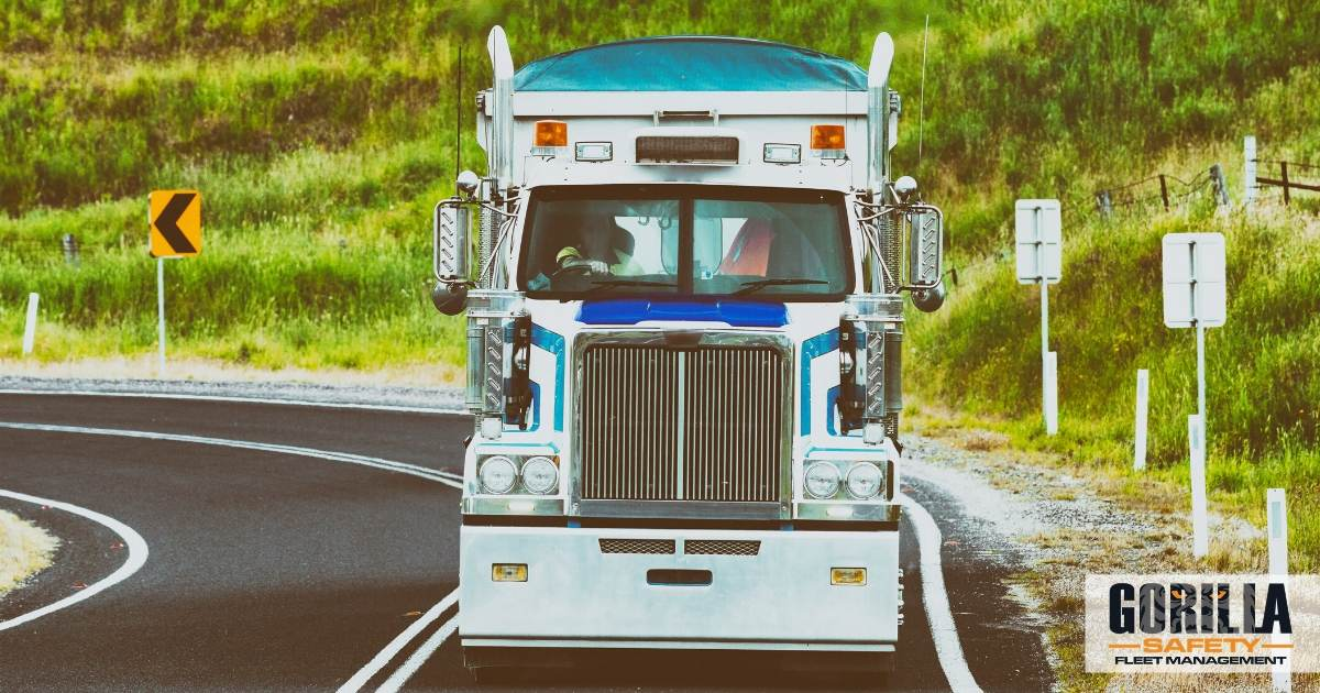 a truck being driven by a driver impacted by the low freight rates