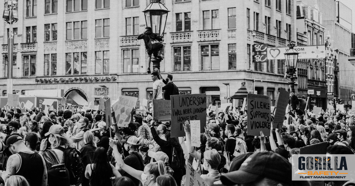 a protest during a time a civil unrest