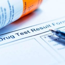 a drug test result form